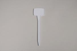 A448MG Paquet de 24 pics étiquettes blanches 5.5x4cm H18.5cm