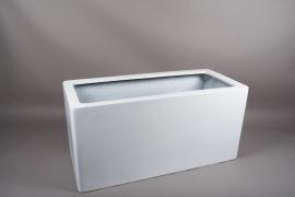 A449HX Jardinière en fibre blanc 95x42cm H45cm