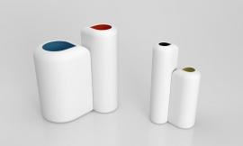 A450NG Set de 4 vases céramique blanc