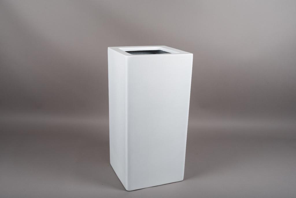 A451HX Cache-pot en fibre blanc 30x30cm H60cm