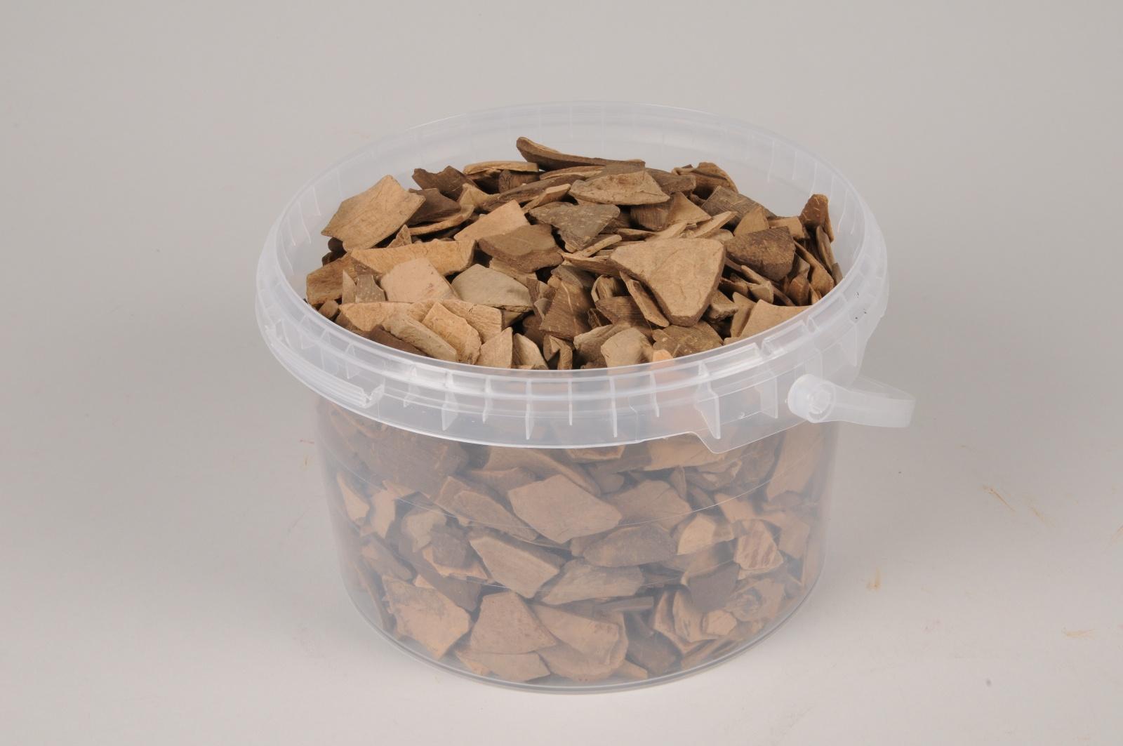 A457SK Seau 2.5L d'écorces de noix de coco naturelles