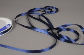 A458UN Dark blue satin ribbon 12mm x 100m