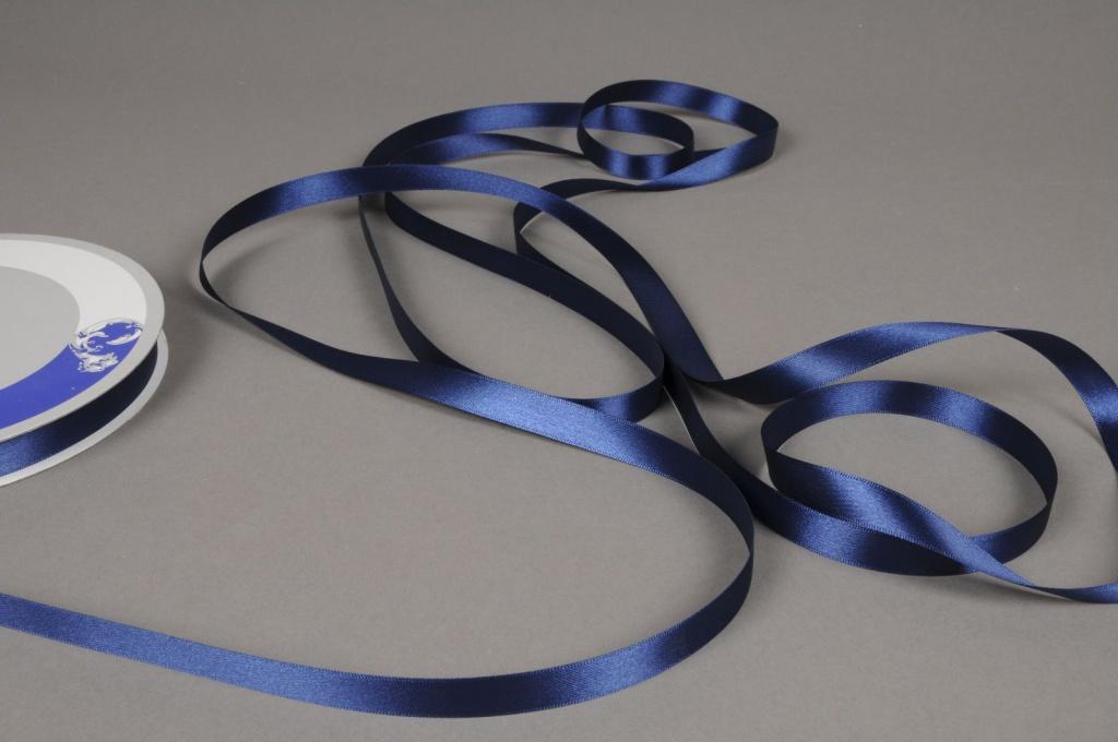 A458UN Ruban satin bleu 12mm x 100m