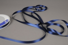 A458UN Ruban satin bleu 12mm x 100m