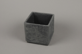 A459WV Black terracotta planter 13 x 13cm H13cm