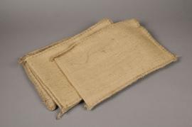 A460UN Paquet de 6 sacs en jute naturel L25cm H38cm
