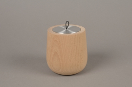 A469NG Scented candle in natural wood THÉ BOURBON