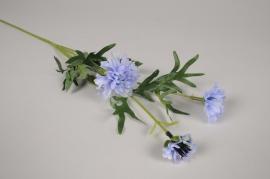a473nn Centaurée artificielle bleue H72cm