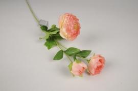 a476nn Renoncule artificielle rose H70cm