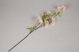 a492nn Branche d'amandier artificielle rose clair H66cm