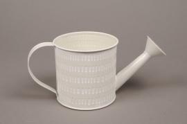A492VJ Zinc watering can white D10cm H10cm