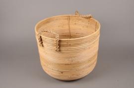 A499VJ Cache-pot en bambou D40cm H33cm