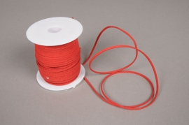 A505UN Roll of red leather thread 3mm x 45m