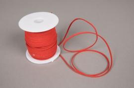 A505UN Rouleau de fil de cuir rouge 3mm x 45m