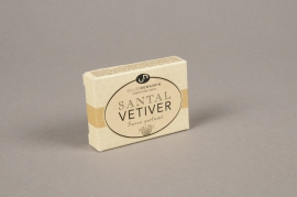 A510NG Boite de 10 savons parfumés santal vetiver