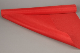 A518UN Roll of red fabric linen 70cm x 4.5m