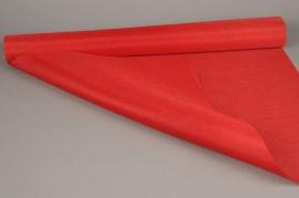 A518UN Rouleaux de tissu lin rouge 70cm x 4.5m
