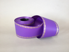 A519ZR Purple bereavement ribbon 75mm x 50m