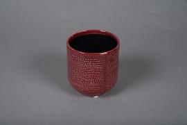 A520HX Cache-pot céramique rose D10.5cm H11cm
