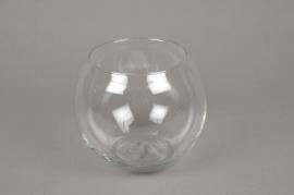 A525IH Glass sphere vase D14cm H11cm