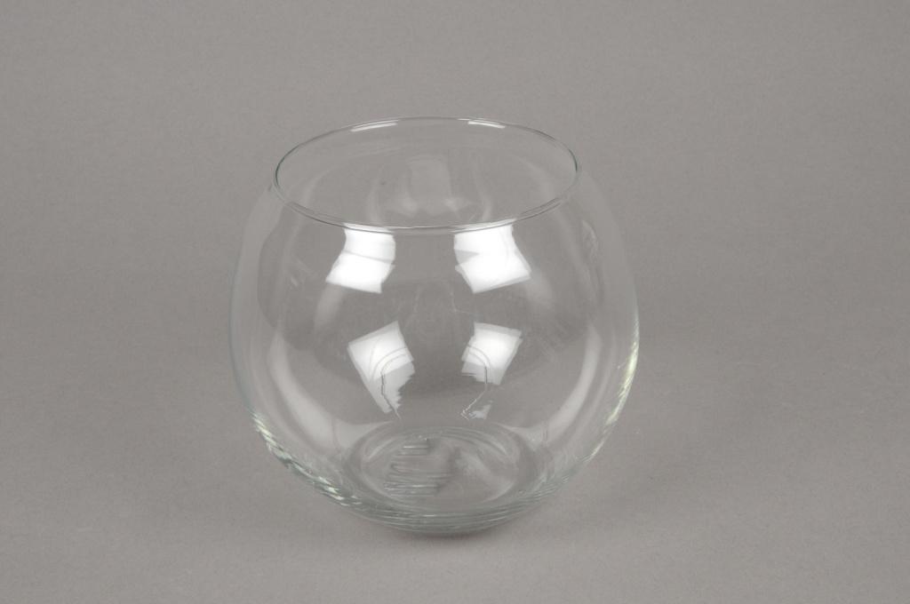 A525IH Vase en verre boule D14cm H11cm