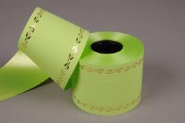 A527ZR Green bereavement ribbon 75mm x 50m