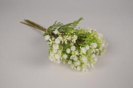 a535nn Bouquet de gypsophile artificiel blanc H34cm