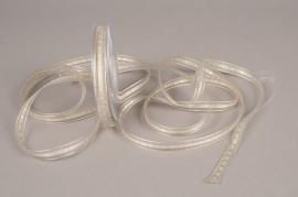 A535UN Organza ribbon design grey 9mm x 25m