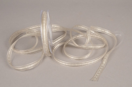 A535UN Organza ribbon design grey 9mm x 25m
