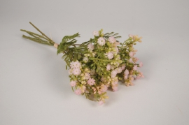 a536nn Bouquet de gypsophile artificiel rose H34cm