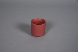 A548HX Cache-pot en céramique rouge brique D6cm H6cm