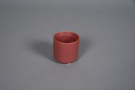A548HX Red brick ceramic planter D6cm H6cm
