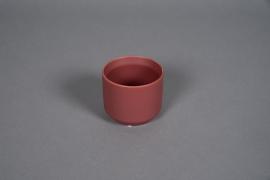 A551HX Cache-pot en céramique rouge brique D8cm H7cm