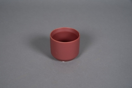 A551HX Red brick ceramic planter D8cm H7cm