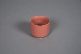 A552HX Cache-pot en céramique terre de sienne D8cm H7cm
