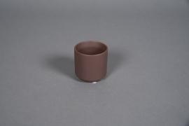 A553HX Cache-pot en céramique brun D8cm H7cm