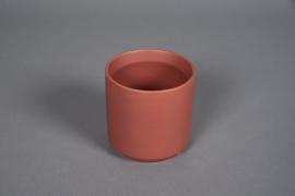 A554HX Cache-pot en céramique rouge brique D10cm H10cm