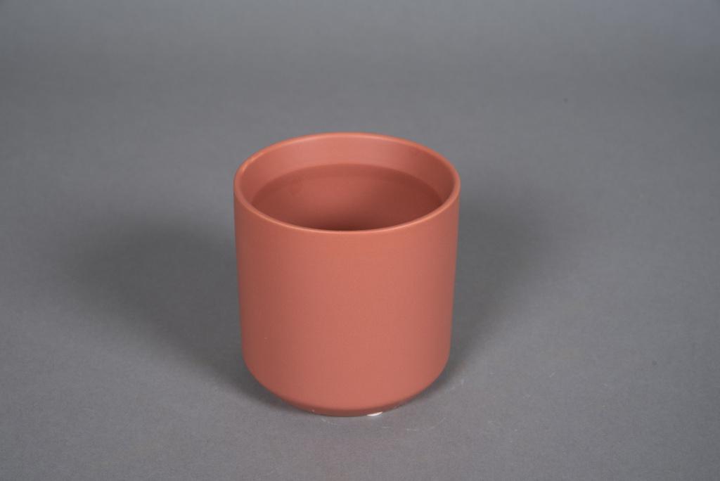 A555HX Cache-pot en céramique terre de sienne D10cm H10cm