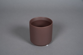 A556HX Brown ceramic planter D10cm H10cm