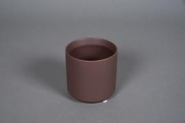 A556HX Cache-pot en céramique brun D10cm H10cm