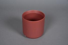 A557HX Cache-pot en céramique rouge brique D13cm H13cm