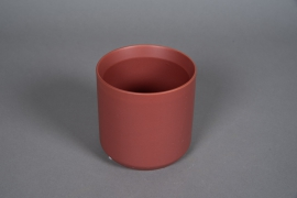 A557HX Red brick ceramic planter D13cm H13cm