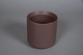 A558HX Cache-pot en céramique brun D13cm H13cm