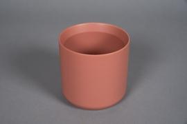 A559HX Cache-pot céramique terre de sienne D13cm H13cm