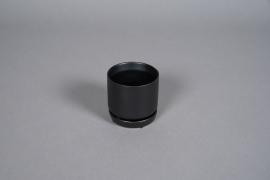 A560HX Black ceramic planter D6.5cm H7cm