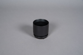 A560HX Cache-pot en céramique noir D6.5cm H7cm
