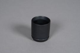 A561HX Cache-pot en céramique noir D8cm H8cm