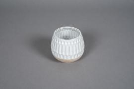 A568HX Cache-pot en céramique blanc D11cm H10cm