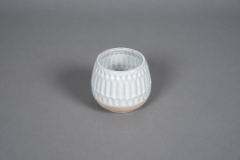 A568HX White ceramic planter D11cm H10cm