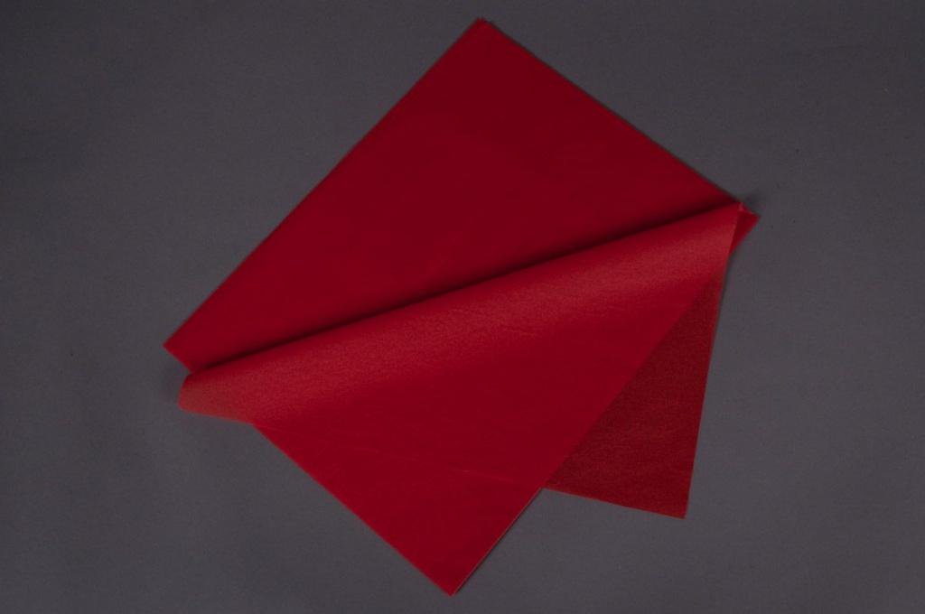A569QX Paquet de 240 feuilles mousseline rouge 50x75cm